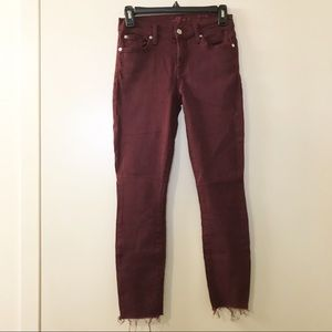 7 For All Mankind | Red Wine The Ankle Skinny Jean